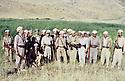 Iran 980.First rank, 4th from right,Babaker Zibari, Abdulla Kado, Masoud Barzani, Ali Abdullah and Hoshyar Zibari .Iran 1980.Premier rang, a partir du 4eme a droite,Babaker Zibari, Abdulla Kado, Masoud Barzani, Ali Abdulla et Hoshyar Zibari