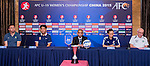 Head coaches of Australia, China, Japan and Uzbekistan attends the pre match press conference of the Group A during the AFC U-19 Women's Championship China at the Tianyun Lake Sports Resort on 17 August 2015 in Nanjing, China. Photo by Aitor Alcalde / Power Sport Images