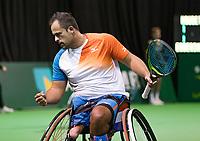 Rotterdam, The Netherlands, 14 Februari 2019, ABNAMRO World Tennis Tournament, Ahoy, Wheelchair, Tom Egberdink (NED)<br /> Photo: www.tennisimages.com/Henk Koster