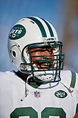 New York Jets Kelvin Beachum (68) during warmups before an NFL football game against the Buffalo Bills, Sunday, December 9, 2018, in Orchard Park, N.Y.  (Mike Janes Photography)