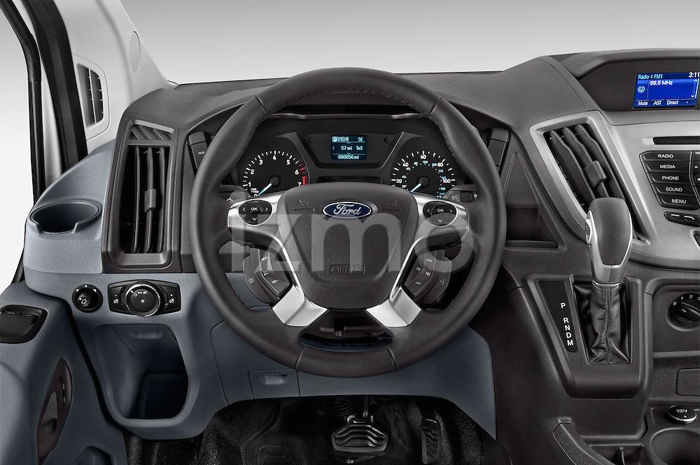 Car pictures of steering wheel view of a 2015 Ford Transit 150 Van 2 Door  Steering Wheel