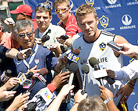 LA Galaxy David Beckham first training day after return from Europe at Home Depot Center in Carson, California Monday July 13, 2009. .