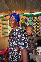 Mother and child in the market at Kasane, Botswana