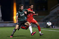 Will Aimson of Plymouth Argyle and Louis Dennis of Leyton Orient during Leyton Orient vs Plymouth Argyle, Caraboa Cup Football at The Breyer Group Stadium on 15th September 2020