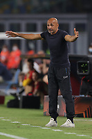 Luciano Spalletti coach of SSC Napoli reacts during the Europa league group C 2021/2022 football match between SSC Napoli and FC Spartak Moskva at Diego Armando Maradona stadium in Napoli (Italy), September 30th, 2021. <br /> Photo Cesare Purini / Insidefoto