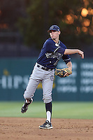 John Brontsema #20 of the UC Irvine Anteaters during a game against the Southern California Trojans at Dedeaux Field on April 29, 2014 in Los Angeles, California. Stanford defeated Southern California, 6-2. (Larry Goren/Four Seam Images)