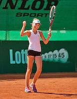 Netherlands, Rotterdam August 08, 2015, Tennis,  National Junior Championships, NJK, TV Victoria, Madelief Hageman wins girls 12 years<br /> Photo: Tennisimages/Henk Koster
