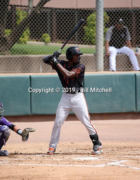Raiber Gutierrez - San Francisco Giants 2019 extended spring training (Bill Mitchell)