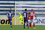 JSW Bengaluru FC (India) GK Amarinder (Amarinder) trying to ssave a goal during match AFCCQF1 – AFC Cup 2016 Quarter Finals<br /> JSWBENGALURUFC(IND) – JSW Bengaluru FC (India)<br /> vs<br /> TAMPINESROVERS(SIN) – Tampines Rovers (Singapore)<br /> at Kanteerava Stadium, Bangalore, Karnataka on 14th Septembar 2016.<br /> Photo by Saikat Das/Lagardere Sports