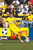 27 MARCH 2010:  Robbie Rogers of the Columbus Crew (18) during the Toronto FC at Columbus Crew MLS game in Columbus, Ohio on March 27, 2010.