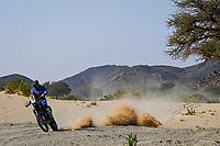 6th January 2021; Wadi Al Dawasir to Riyadh, Saudia Arabia; Dakar 2021 Rally, stage 4;  #18 Branch Ross (bwa), Yamaha, Monster Energy Yamaha Rally Team, Moto, Bike, action during the 4th stage of the Dakar 2021 between Wadi Al Dawasir and Riyadh, in Saudi Arabia on January 6, 2021