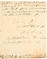 BNPS.co.uk (01202 558833)<br /> Pic: Sotheby's/BNPS<br /> <br /> An incredibly rare letter written by the pioneering fossil collector Mary Anning to a close friend recounting her discoveries has been unearthed.<br /> <br /> The never-before-seen letter, that is worth £70,000, was sent by Anning to William Buckland, an geologist and palaeontologist, in 1824.<br /> <br /> It was rediscovered by Buckland's descendants stowed away amongst papers in a drawer in the family home.