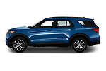 Car Driver side profile view of a 2020 Ford Explorer ST 5 Door SUV Side View