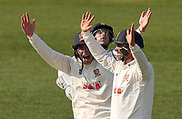 Daniel Lawrence, Ryan ten Doeschate and Adam Wheater of Essex appeal for a wicket during Worcestershire CCC vs Essex CCC, LV Insurance County Championship Group 1 Cricket at New Road on 30th April 2021