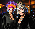 Janis Wiley and Dianna Bowles at the San Luis Salute hosted by Paige and Tilman Fertitta in Galveston Friday Feb. 12,2010.(Dave Rossman Photo)