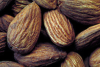 Almonds in hard shell.