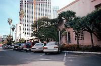San Diego: Old Police Headquarters, 1939. (Overshadowed by Hyatt Regency Hotel.)  NRHP 1998. Photo '03.