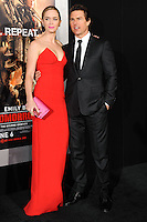 """NEW YORK CITY, NY, USA - MAY 28: Emily Blunt, Tom Cruise at the New York Premiere Of """"Edge Of Tomorrow"""" held at AMC Loews Lincoln Square on May 28, 2014 in New York City, New York, United States. (Photo by Celebrity Monitor)"""