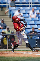 Altoona Curve first baseman Will Craig (25) swings at a pitch during a game against the Binghamton Rumble Ponies on June 14, 2018 at NYSEG Stadium in Binghamton, New York.  Altoona defeated Binghamton 9-2.  (Mike Janes/Four Seam Images)