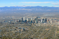 Winter aerial of Denver, Colorado. Dec 2013