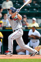 Fort Myers Miracle outfielder Andy Leer #12 during a game against the Bradenton Marauders at McKechnie Field on April 7, 2013 in Bradenton, Florida.  Fort Myers defeated Bradenton 9-8 in ten innings.  (Mike Janes/Four Seam Images)