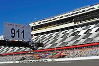 22-25 January, 2015, Daytona Beach, Florida USA<br /> Porsche refueling rig and the Daytona Tower.<br /> ©2015, F. Peirce Williams