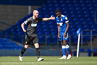 Joe Garner, Wigan Athletic,  clearly unhappy with the decision during Ipswich Town vs Wigan Athletic, Sky Bet EFL League 1 Football at Portman Road on 13th September 2020