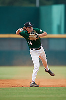 Jake Fox (14) of Lakeland Christian High School in Plant City, FL during the Perfect Game National Showcase at Hoover Metropolitan Stadium on June 18, 2020 in Hoover, Alabama. (Mike Janes/Four Seam Images)
