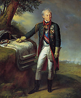 Portrait of Field Marshal Generalissimo Prince Alexander Suvorov (1729–1800)<br /> Artist:Steuben, Charles de(1788-1856)<br /> Museum:A. Suvorov State Memorial Museum, St. Petersburg<br /> Method:Oil on canvas<br /> Created:1815<br /> School:Germany<br /> Trend in art:Romanticism