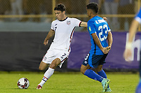 SAN SALVADOR, EL SALVADOR - SEPTEMBER 2: Gio Reyna #7 of the United States passes the ball during a game between El Salvador and USMNT at Estadio Cuscatlán on September 2, 2021 in San Salvador, El Salvador.