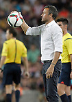 FC Barcelona's coach Luis Enrique Martinez during Supercup of Spain 2nd match.August 17,2015. (ALTERPHOTOS/Acero)