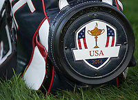 23.09.2014. Gleneagles, Auchterarder, Perthshire, Scotland.  The Ryder Cup.  Detail of the Team USA bag during the Team USA photocell.