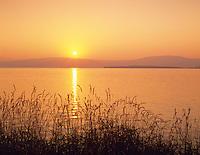 Sunrise reflected in Upper Klamath Lake, Oregon