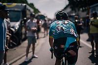 post-finish carnage : Michael Valgren (DEN/Astana) rolling in at the finish zone<br /> <br /> Stage 9: Arras Citadelle > Roubaix (154km)<br /> <br /> 105th Tour de France 2018<br /> ©kramon