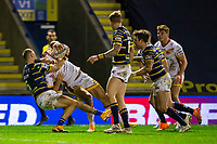 13th November 2020; The Halliwell Jones Stadium, Warrington, Cheshire, England; Betfred Rugby League Playoffs, Catalan Dragons versus Leeds Rhinos; Israel Folau of Catalans Dragons scores a try