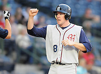 11 April 2008: Rusty Ryal of the Mobile BayBears, Class AA affiliate of the Arizona Diamondbacks, in a game against the Mississippi Braves at Trustmark Park in Pearl, Miss. Photo by:  Tom Priddy/Four Seam Images