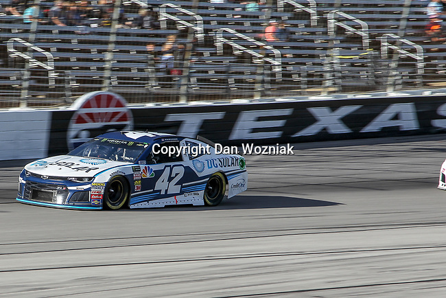 Monster Energy NASCAR Cup Series driver Kyle Larson (42) in action during the Monster Energy NASCAR Cup Series, AAA Texas 500, race at the Texas Motor Speedway in Fort Worth,Texas.