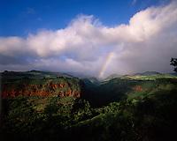 Rainbow over Hanapepe Valley, Kauai, Hawaii, USA.