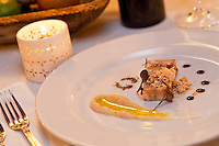 "Hudson Valley Foie Gras Torchon.Peanut Butter ""crumbs"" / vanilla scented sea salt Hinds Restaurant.Cruz Bay, St John"