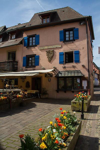 Hotel in Eguisheim in Alsace region, eastern France,