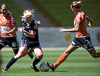 MELBOURNE, AUSTRALIA - DECEMBER 4: Amy JACKSON from Melbourne Victory controls the ball in round 5 of the Westfield W-league match between Melbourne Victory and Brisbane Roar on 4 December 2010 at AAMI Park in Melbourne, Australia. (Photo Sydney Low / asteriskimages.com)