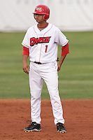 August 5, 2009:  Kevin Ramos of the Orem Owlz, Rookie Class-A affiliate of the Los Angeles Angels of Anaheim, during a game at the Orem Owlz Ballpark in Orem, UT. Photo by: Matthew Sauk/Four Seam Images