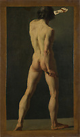 Full title: An Académie<br /> Artist: French<br /> Date made: probably 1800-50