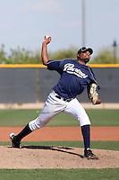 Luis De La Cruz #33 of the San Diego Padres plays in minor league spring training game against the Seattle Mariners at the Padres minor league complex on March 19, 2011  in Peoria, Arizona. .Photo by:  Bill Mitchell/Four Seam Images.