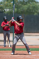 Arizona Diamondbacks shortstop Jose Caballero (13) at bat during an Extended Spring Training game against the Cleveland Indians at the Cleveland Indians Training Complex on May 27, 2018 in Goodyear, Arizona. (Zachary Lucy/Four Seam Images)