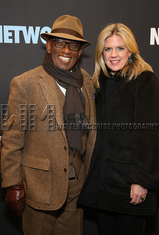 """Al Roker and guest attends the Broadway Opening Night Performance  for """"Network"""" at the Belasco Theatre on December 6, 2018 in New York City."""