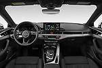 Stock photo of straight dashboard view of 2021 Audi A5-Sportback Design 5 Door Hatchback Dashboard