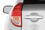 Tail light close up detail view of a 2008 Toyota Rav4 Limited SUV Stock Photo