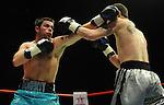 Tony Doherty (Blue shorts) V Geraint Harvey (White shorts).Joe Calzaghe Promotions Boxing Evening .Date: Friday 20/11/2009,  .© Ian Cook IJC Photography, 07599826381, iancook@ijcphotography.co.uk,  www.ijcphotography.co.uk, .