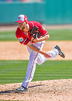 28 February 2016: Washington Nationals pitcher Taylor Jordan on the mound during an inter-squad pre-season Spring Training game at Space Coast Stadium in Viera, Florida. Mandatory Credit: Ed Wolfstein Photo *** RAW (NEF) Image File Available ***